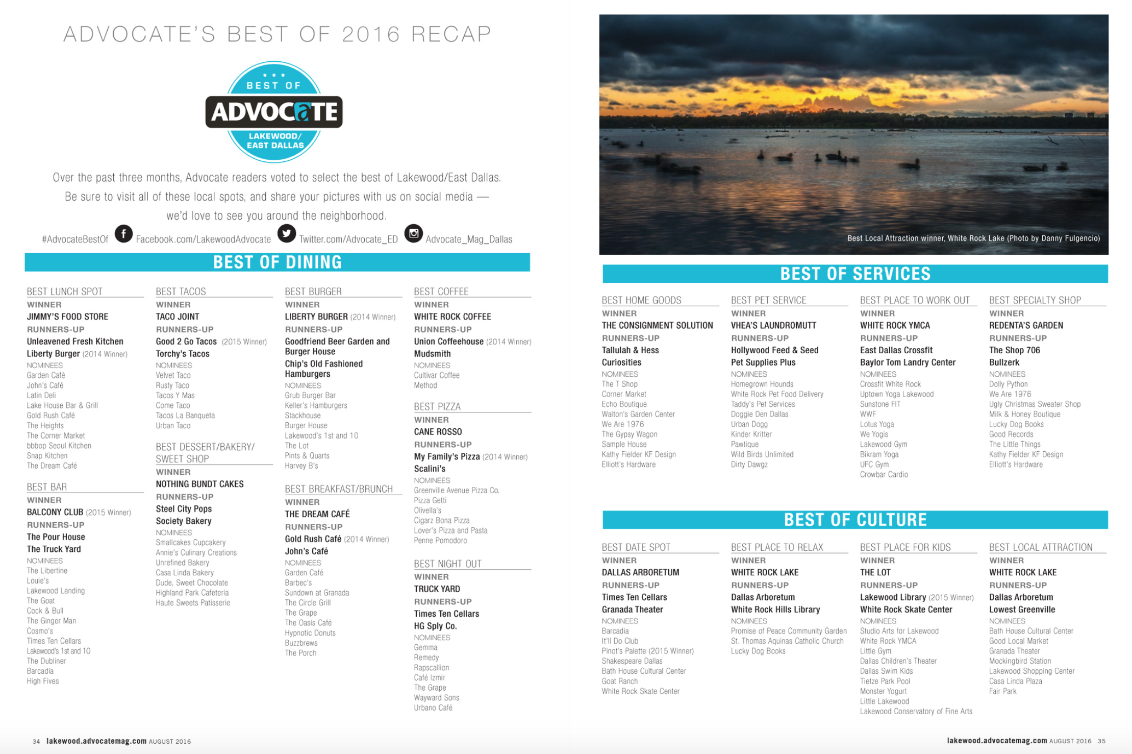 Advocate 2016 Best of Awards
