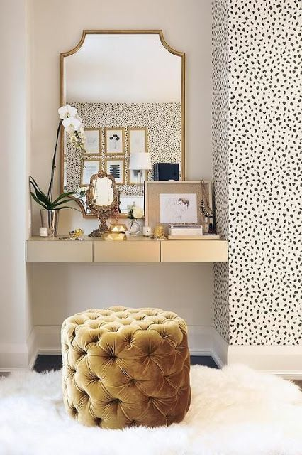 white and gold vanity table. 71750dab39d388536490c1570e49f180 jpg How to Style Your Dressing Table  KF DESIGN LIFE STYLE