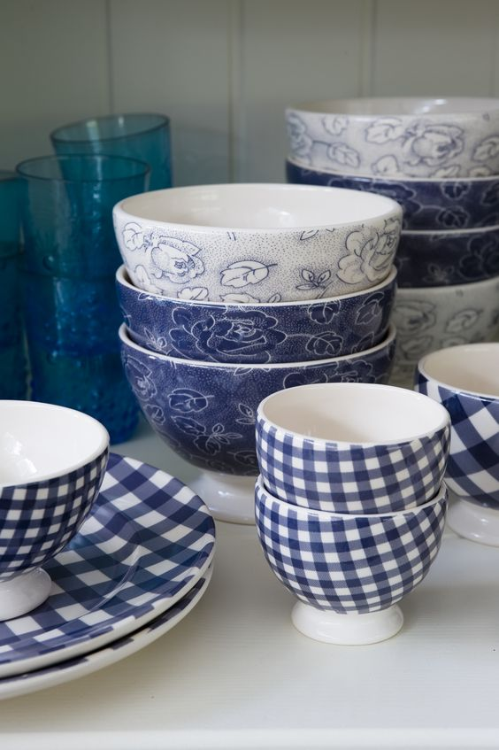 These dishes are the perfect combo of modern / traditional. Anyways who doesn\u0027t want to eat a bowl of berries out of these cute gingham-patterned bowls? & Newest Home Trend: Gushing Over Gingham | KF DESIGN | LIFE | STYLE