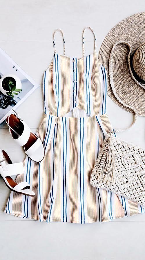 Summer sundress fashion